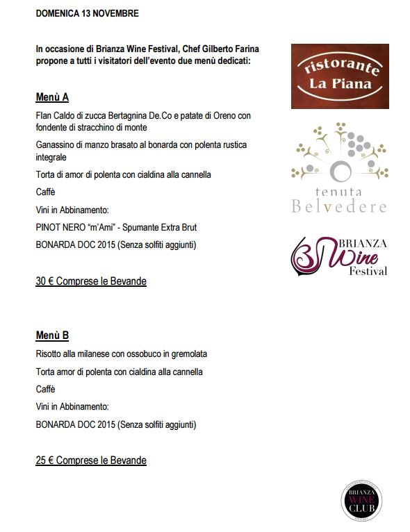 menu dedicati brianza wine festival