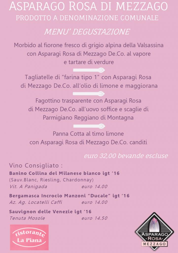menu Asparago Mezzago 2018