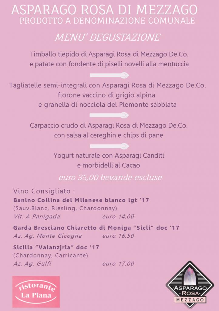 menu Asparago Mezzago 2019