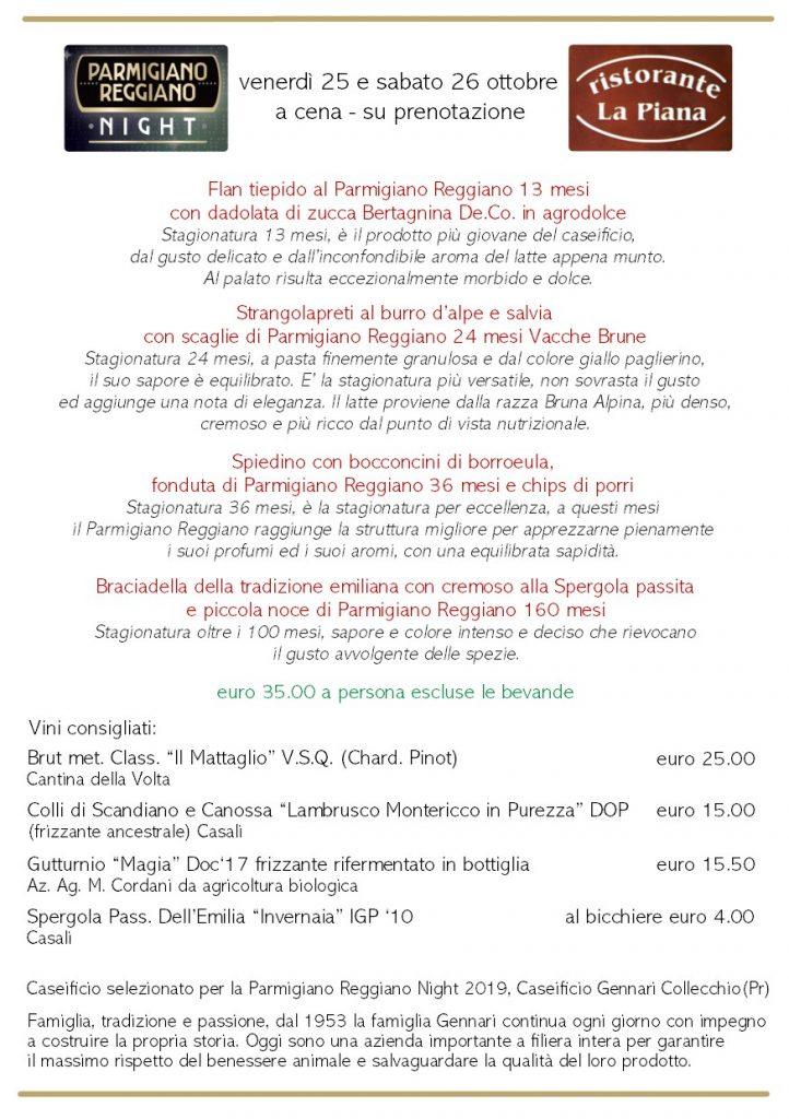 2019 parmigiano reggiano night risorante la piana