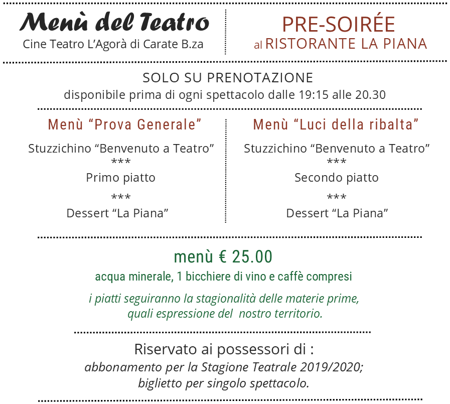 menu teatro carate la piana stagione 2019 2020
