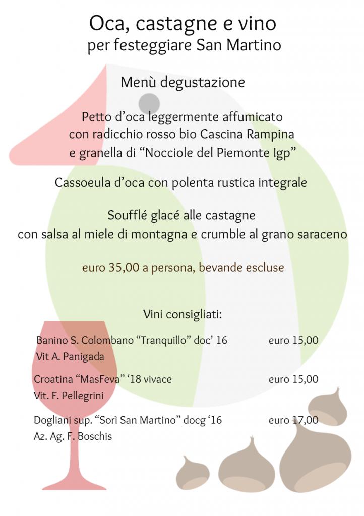 menu degustazione oca 2019