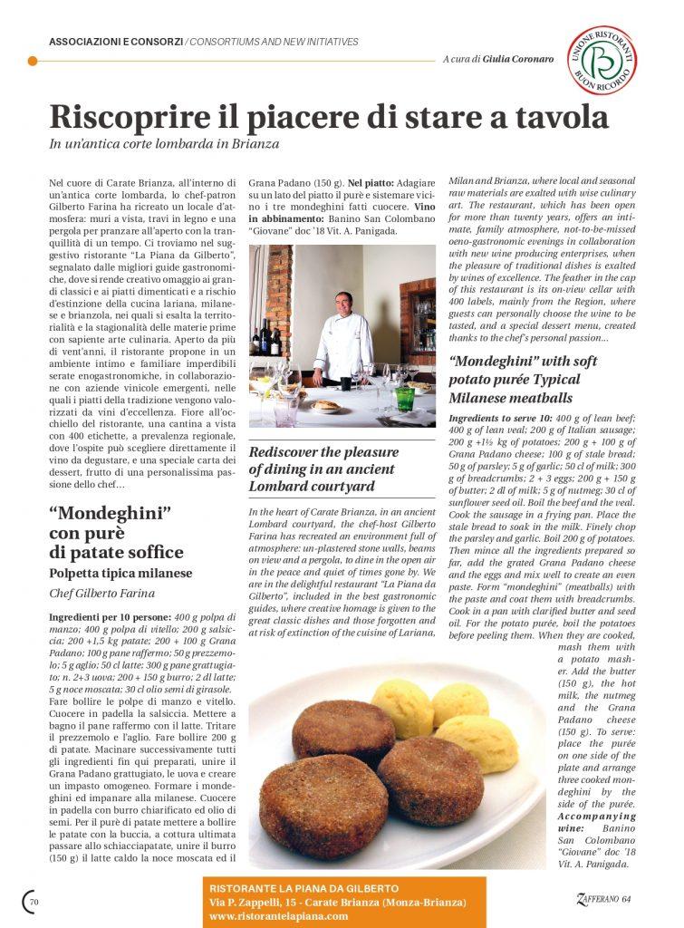 Zafferano Magazine Ristorante La Piana